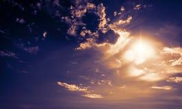Nuvens coloridas Fotos de Stock