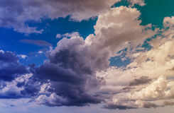 Nuvens coloridas Foto de Stock Royalty Free