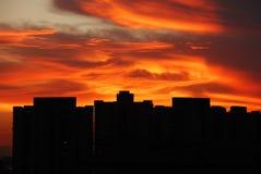 nuvens coloridas Imagem de Stock Royalty Free