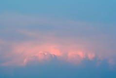 Nuvens coloridas agradáveis e macias Imagem de Stock