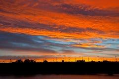 Nuvens coloridas no por do sol Foto de Stock Royalty Free