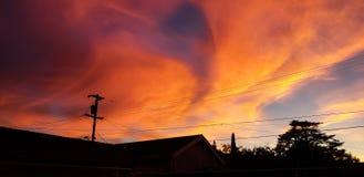 Nuvens como o fogo imagem de stock