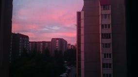 Nuvens cor-de-rosa Foto de Stock