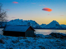 Nuvens cor-de-rosa Imagem de Stock Royalty Free