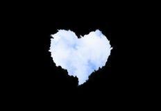 nuvens Coração-dadas forma Fotografia de Stock