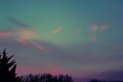 Nuvens da fantasia Fotos de Stock