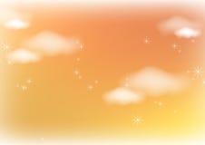 Nuvens da luz solar Fotos de Stock