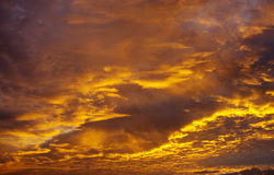 Nuvens da manhã Imagens de Stock Royalty Free