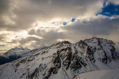 Nuvens da montanha Fotografia de Stock Royalty Free