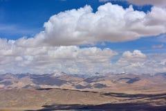Nuvens da neve de China Tibet Imagem de Stock