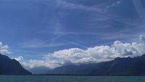 Nuvens da paisagem do lago river filme