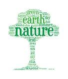 Nuvens da palavra do conceito da árvore de Eco Imagens de Stock Royalty Free