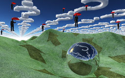 Nuvens da pergunta sobre a paisagem Fotografia de Stock