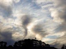 Nuvens dadas forma plúmeos Imagem de Stock Royalty Free