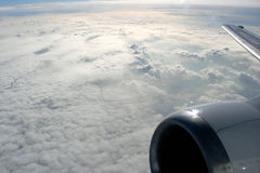 Nuvens de acima foto de stock royalty free