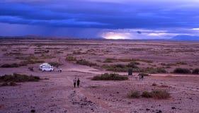 Nuvens de Amboseli Fotos de Stock