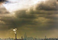 Nuvens de aumentação Foto de Stock Royalty Free