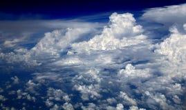 Nuvens de cúmulo Fotografia de Stock