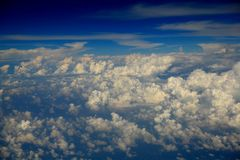 Nuvens de cúmulo Imagens de Stock Royalty Free