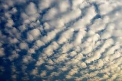 Nuvens de cúmulo do alto Fotos de Stock Royalty Free