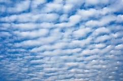 Nuvens de cúmulo do alto Fotografia de Stock Royalty Free