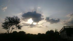 Nuvens de chuva imagem de stock
