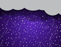 Nuvens de chuva do fundo, tempestade Imagem de Stock