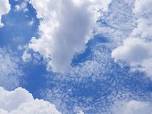 Nuvens de Cirrocumulus Imagens de Stock
