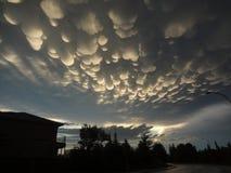 Nuvens de Cottonball Fotografia de Stock Royalty Free