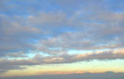 Nuvens de Cumulus Imagens de Stock Royalty Free