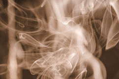 Nuvens de fumo cênicos Foto de Stock