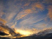 Nuvens de incandescência Foto de Stock Royalty Free