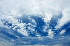 Nuvens de nível elevado Fotografia de Stock