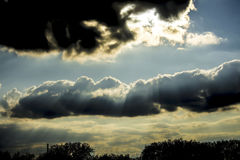 Nuvens de nimbostrato fotos de stock royalty free