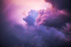 Nuvens de noite Foto de Stock