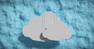 Nuvens de papel de suspensão Imagens de Stock