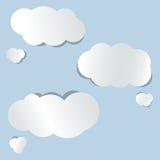 Nuvens de papel do vetor Imagem de Stock Royalty Free