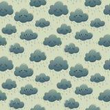 Nuvens de sorriso bonitos com chuva Foto de Stock Royalty Free