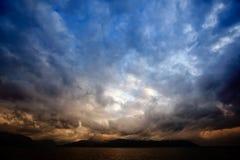 Nuvens de tempestade Fotos de Stock Royalty Free