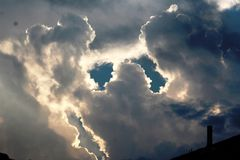 Nuvens de tempestade imagem de stock