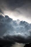 Nuvens de tempestade bonitas Fotos de Stock Royalty Free