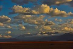 Nuvens de tempestade da neve de China Tibet Fotos de Stock Royalty Free