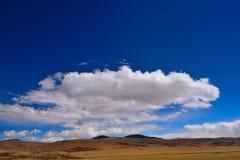 Nuvens de tempestade da neve de China Tibet Fotos de Stock