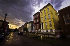 Nuvens de tempestade de Cincinnati Fotos de Stock Royalty Free