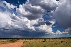 Nuvens de tempestade do verão fotos de stock royalty free