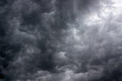 Nuvens de tempestade escuras Imagem de Stock