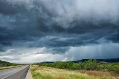 Nuvens de tempestade escuras Fotos de Stock