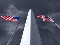 Tempestade do monumento de Washington Fotografia de Stock
