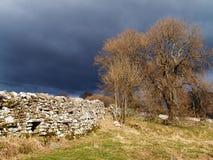 Nuvens de tempestade inglesas do distrito do lago Imagem de Stock