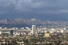 Nuvens de tempestade sobre Hollywood Fotografia de Stock